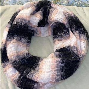 Calvin Klein pink black white infinity scarf